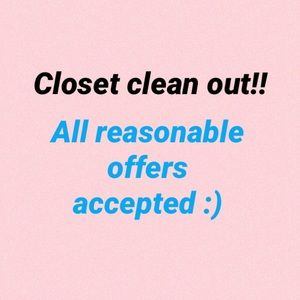 Closet clean out!! Make an offer on anything